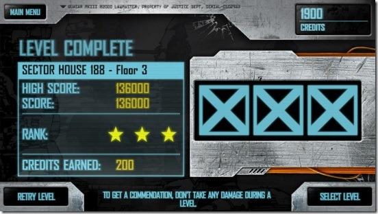 Judge Dredd vs. Zombies - level score