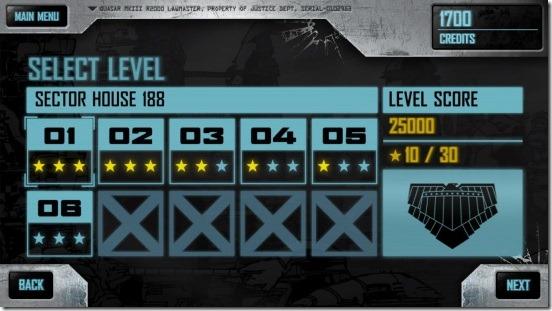 Judge Dredd vs. Zombies - levels