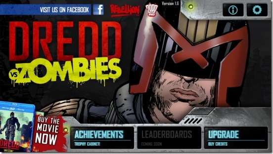 Judge Dredd vs. Zombies - main screen