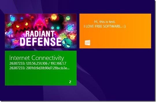 Live Tile Messages - live tile at start screen