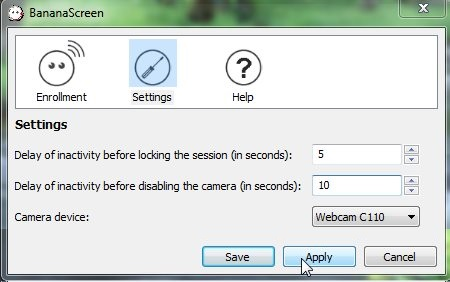 Lock Screen with BananaScreen - Setting Inactivity Delay