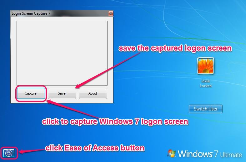 Login Screen Capture 7- capture and save logon screen
