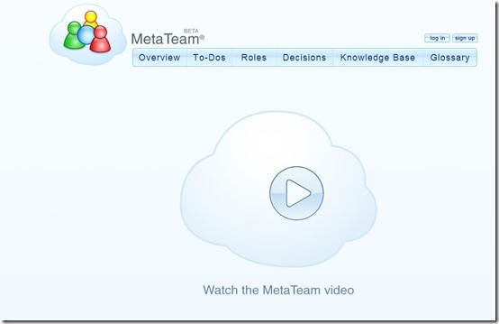 Meta Team-online project management-home page