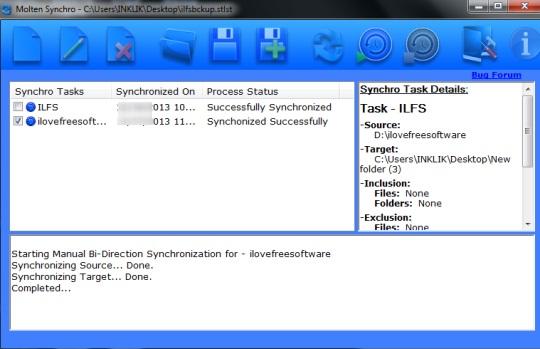 Molten Synchro- interface