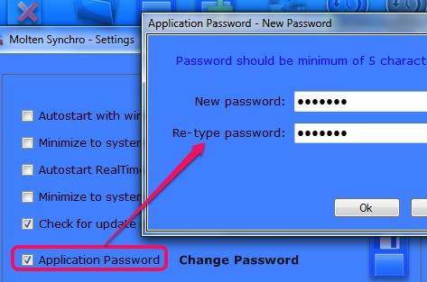 Molten Synchro- set application password