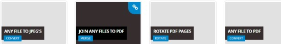 Online PDF Tools- select a tool