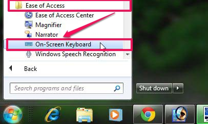 Open On-Screen Keyboard