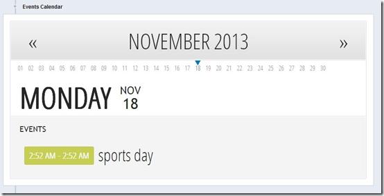 Otter-website for teachers-event calendar