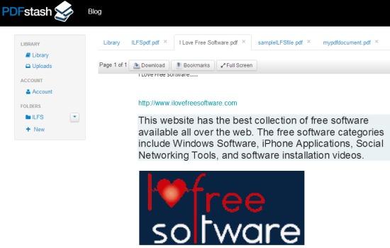PDFstash- online pdf viewer