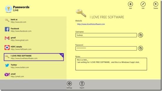 PasswordsLive - UI
