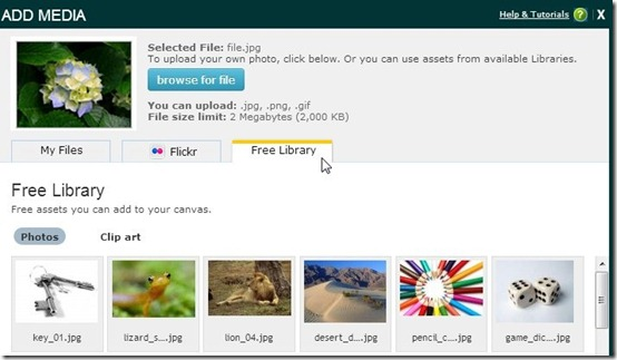 Presenter-online presentation maker- add images