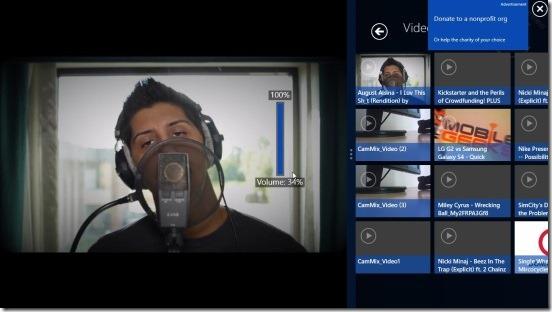 PressPlay Video - volume control