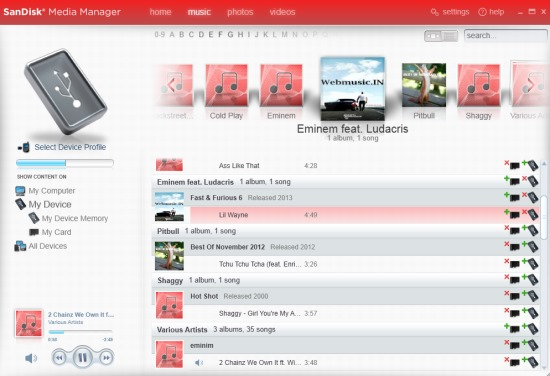 SanDisk Media Manager- transfer files between phone and pc