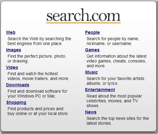 Search.com Options