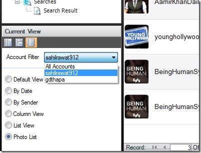 SharedMinds Desktop- different views and account filtering