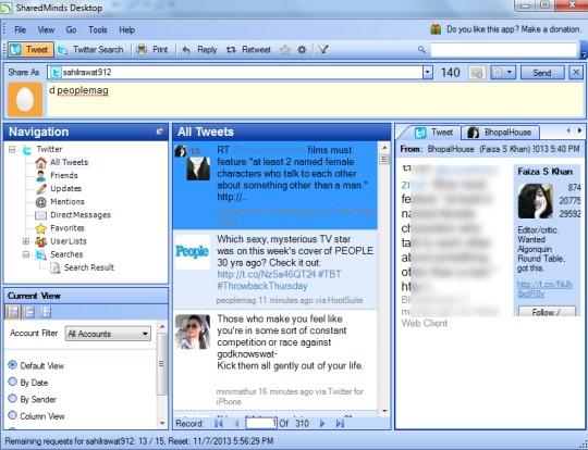 SharedMinds Desktop- interface