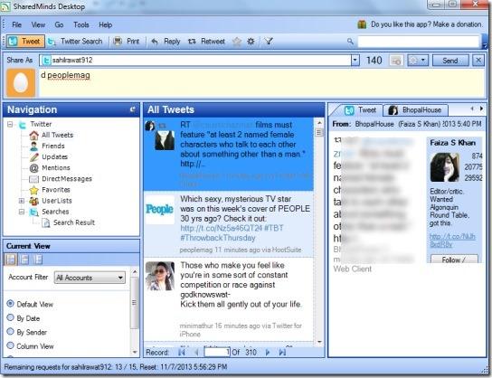 SharedMinds Desktop- interface