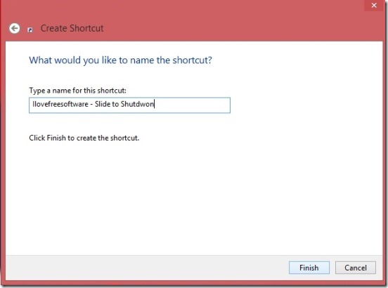 Slide To Shutdown - giving shortcut name