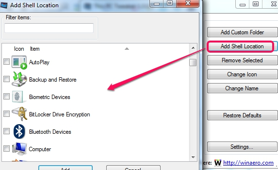 This PC Tweak- add shell location