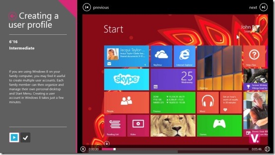 Tips & Tricks for Windows 8.1 - watching tutorial in normal mode