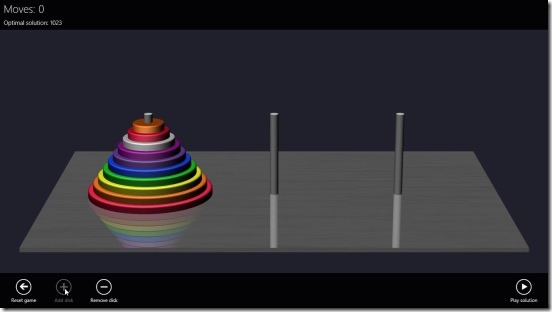 Towers of Hanoi 3D - adding disks