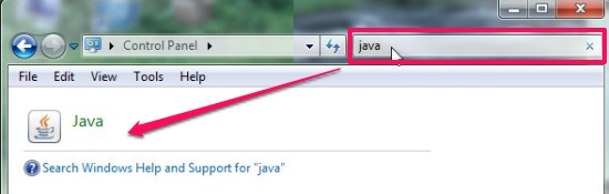Turn Off Java Updates - Launching Java Control Panel