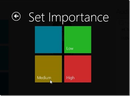 Voice Notes for SkyDrive - setting improtance