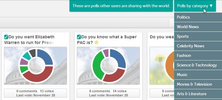 Online Voting Tool To Vote And Create New Polls To Gauge The