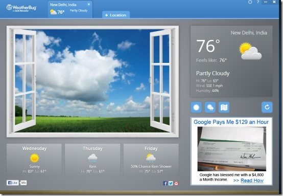 Weatherbug Chrome