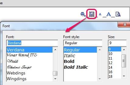 WinAudit- change font properties