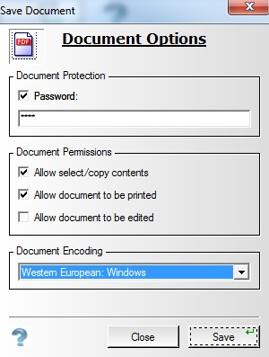 WinAudit- password protect audit as pdf document