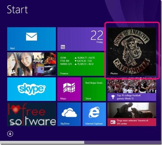 Windows 8 Tutorial - Photos app live tile