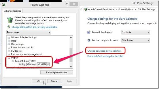 Windows 8 tutorial - advance power settings