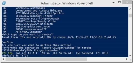 Windows 8 tutorial - uninstalling multiple apps in Windows 8 confirmation