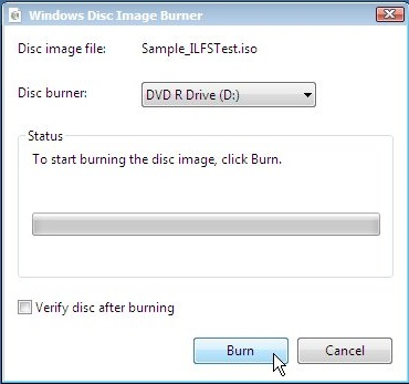 Windows Disc Image Burner
