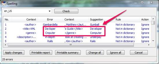 Free XML Editor - XML Copy Editor - Spell check