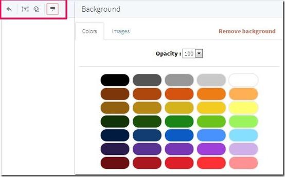 bunkr-online presentation maker-add background