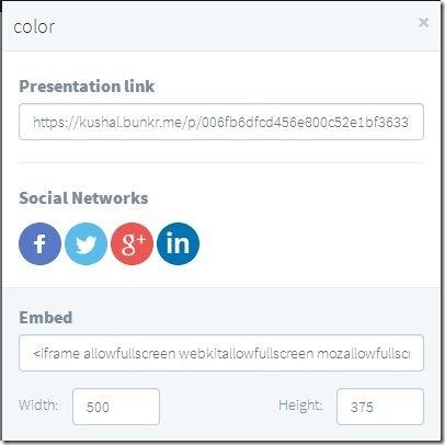 bunkr-online presentation maker-publish presentation
