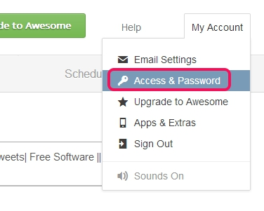 click on access & password option