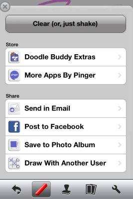 doodle buddy settings