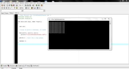 Dev-C++ - IDE - Main Interface