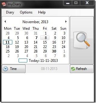 my Diary-my diary-interface
