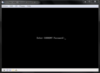 Set up a BIOS Password - Asking password on start up