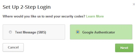 two factor authentication in Buffer- Google Autheticator