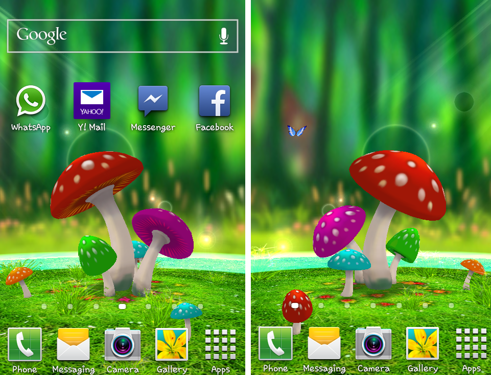 The Best Live 3d Wallpaper For Android 3d Mushroom Garden
