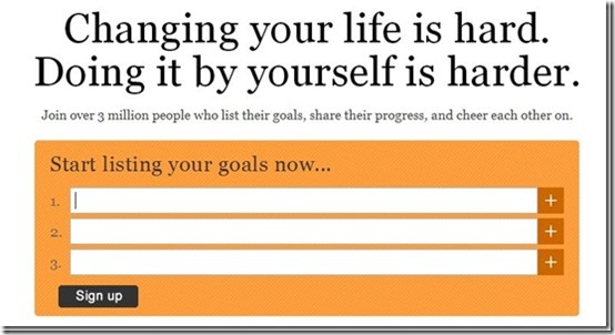 43things-maintain new year resolutions-home page
