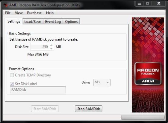 Free Ramdisk Software - AMD Radeon RAMDisk