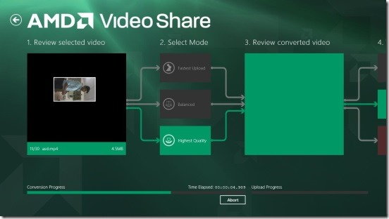 AMD Video Share - compressed video and choosing the mode