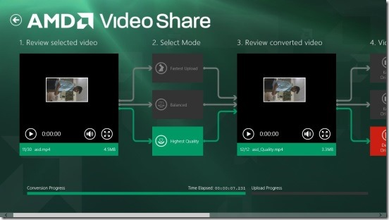 AMD Video Share - original and compressed videos