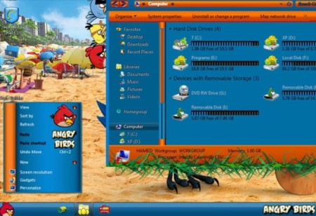 Angry Birds Skin Pack-angry birds theme-angry birds theme
